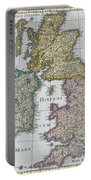 Antique Map Of Britain Portable Battery Charger by English School
