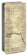 Antique Map Of Louisiana And Florida Portable Battery Charger by Guillaume Raynal