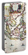 Antique Map Showing Southeast Asia And The East Indies Portable Battery Charger