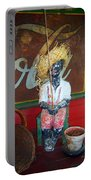 Antique Plaster Black Child Fisherman With Coca Cola Background Portable Battery Charger