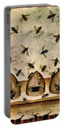 Apiculture-beekeeping-14th Century Portable Battery Charger by Science Source