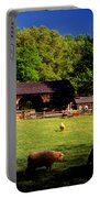 Appalachian Barn Yard Portable Battery Charger