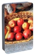 Apples And Bananas In Basket Portable Battery Charger
