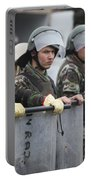 Argentine Marines Dressed In Riot Gear Portable Battery Charger