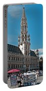 Art Reflecting Art In Brussels Portable Battery Charger