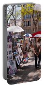 Artist Colony Of Montmartre Portable Battery Charger