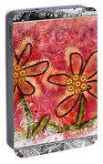 Artsy Daisies Portable Battery Charger