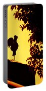 As A Rooster Crows Portable Battery Charger by Carolyn Marshall