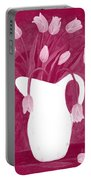 Ashes Of Roses Tulips Portable Battery Charger