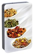 Assorted Herbal Wellness Dry Tea In Spoons Portable Battery Charger
