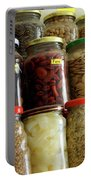 Assorted Spices Portable Battery Charger by Carlos Caetano