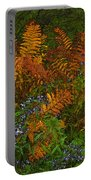 Asters And Ferns Portable Battery Charger