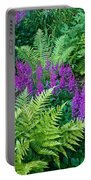 Astilbe And Ferns Portable Battery Charger