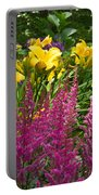 Astilbe And Lilies Portable Battery Charger