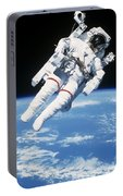 Astronaut Floating In Space Portable Battery Charger