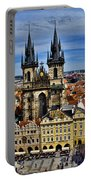 Atop The Clock Tower - Prague Portable Battery Charger