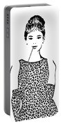 Audrey Hepburn Portable Battery Charger