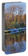 autum at the Lake Maggiore Portable Battery Charger by Joana Kruse