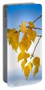 Autumn Aspen Leaves Portable Battery Charger