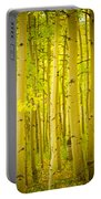 Autumn Aspens Vertical Image  Portable Battery Charger