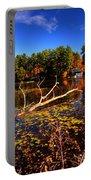 Autumn At Bomoseen Lake  Portable Battery Charger