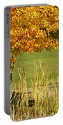 Autumn At The Schoolground Portable Battery Charger