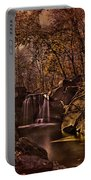 Autumn At The Waterfall In The Ravine In Central Park Portable Battery Charger