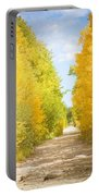 Autumn Back County Road Portable Battery Charger
