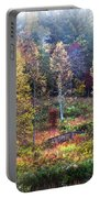 Autumn Bridge In The Fog Portable Battery Charger