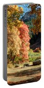 Autumn Campground In Blacksmith Fork Canyon - Utah Portable Battery Charger