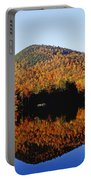 Autumn Colours Reflected In Water Portable Battery Charger
