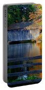 Autumn Crosses The Bridge - Greeting Card Portable Battery Charger