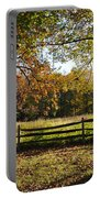 Autumn Field In Pennsylvania Portable Battery Charger