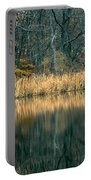Autumn Fisherman Reflections Portable Battery Charger