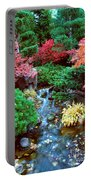 Autumn Garden Waterfall I Portable Battery Charger