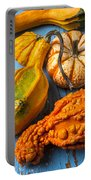 Autumn Gourds Still Life Portable Battery Charger