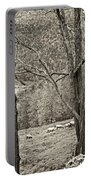 Autumn Grazing 2 Sepia Portable Battery Charger