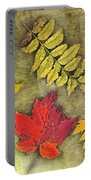 Autumn Leaf Collage Portable Battery Charger