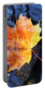 Autumn Leaf On The Water Level Portable Battery Charger
