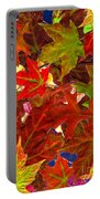 Autumn Leaves Collage Portable Battery Charger