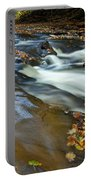 Autumn Leaves In Water II Portable Battery Charger