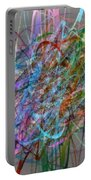 Autumn Likes Lines Portable Battery Charger by Michelle Calkins