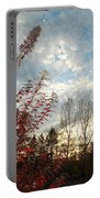Autumn Maple And Sky Portable Battery Charger