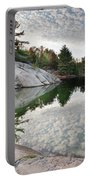 Autumn Nature Lake Rocks And Trees Portable Battery Charger