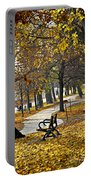 Autumn Park In Toronto Portable Battery Charger