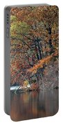 Autumn Pond Reflections Portable Battery Charger