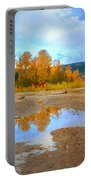 Autumn Puddles Portable Battery Charger
