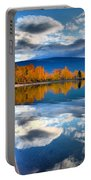 Autumn Reflections In October Portable Battery Charger