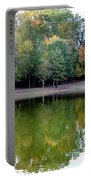 Autumn Reflections Upon Dark Waters Portable Battery Charger