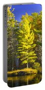 Autumn Scene Of Colorful Trees On The Little Manistee River In Michigan No. 0855 Portable Battery Charger